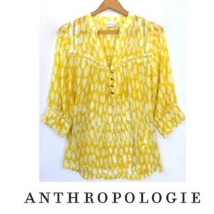 Anthro Dolan Flowering Pasture Silk Blouse Small